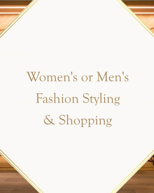 Women's or Men's Fashion Styling & Shopping in Italy