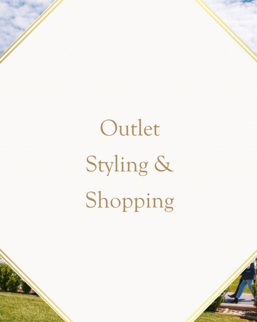 Shopping and styling in Italian luxury outlets
