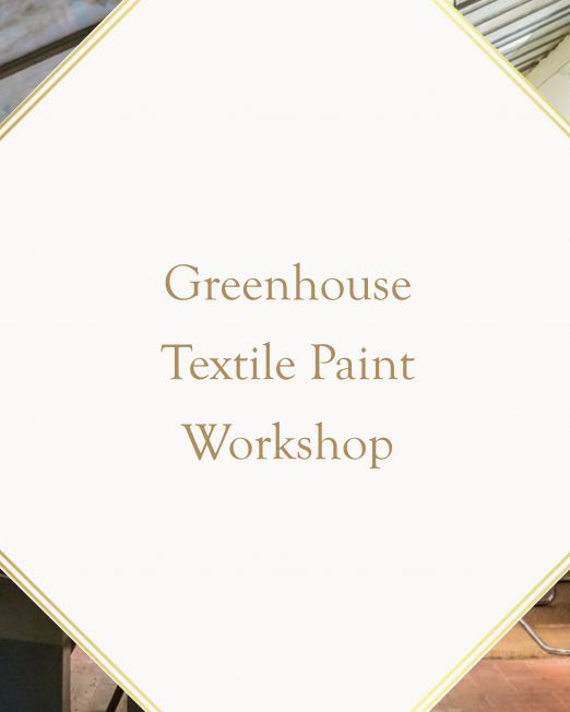 textile painting workshop in Florence Italy in greenhouse