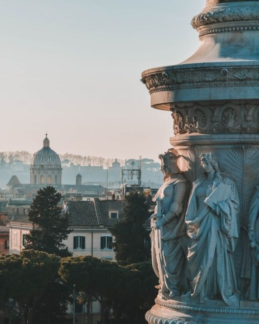 Private Italian City Tour. Statue with a view of Rome. Photography Credit: Carlos Ibanez