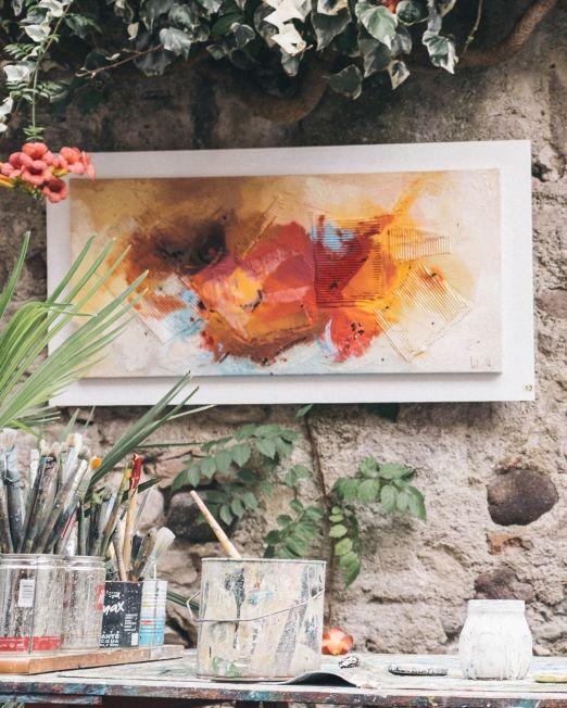 Garden Visit Painting Workshop Florence